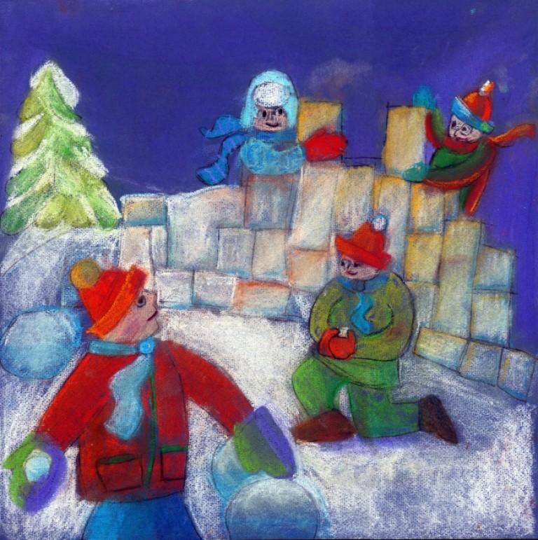 Чернодаров Михаил, 8 лет, АНО «Студия Контур», г.Новосибирск, «Взятие снежной крепости»